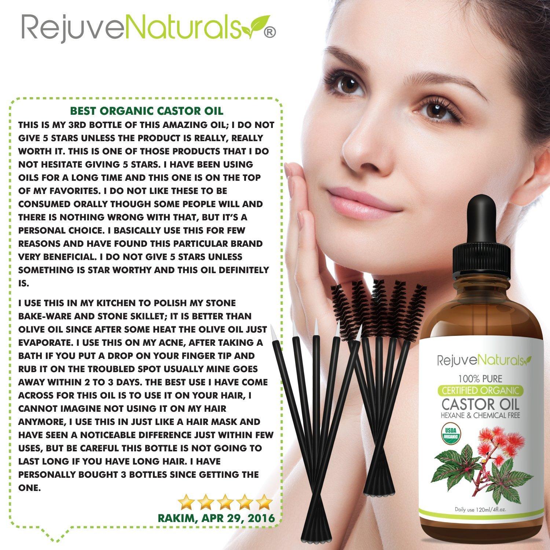 Organic Castor Oil - Boost Hair Growth For Hair, Eyelashes ...